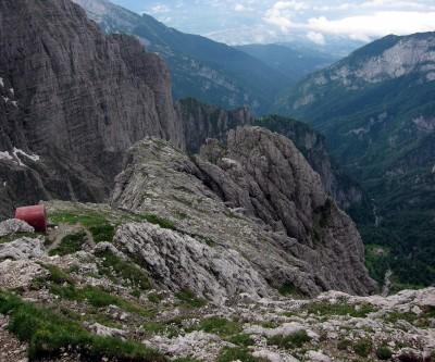 Schiara Abstieg zum Settimo Alpini